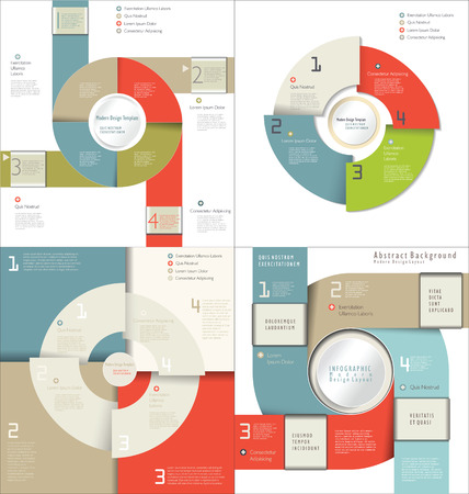 mega city: Collection of Infographic Templates