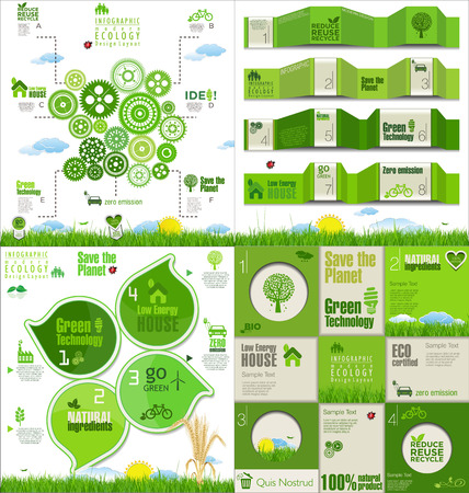 clean environment: Modern ecology Design Layout collection