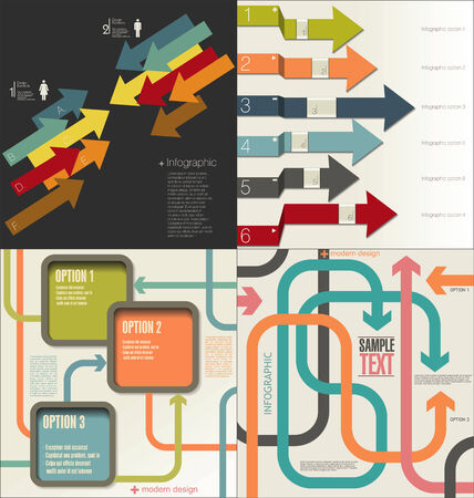 Collection of Infographic Templates Vector
