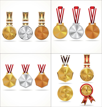 silver medal: Medal collection Illustration