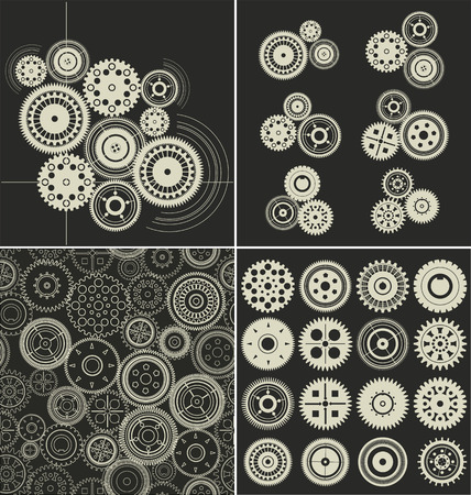 Gear background collection Illustration