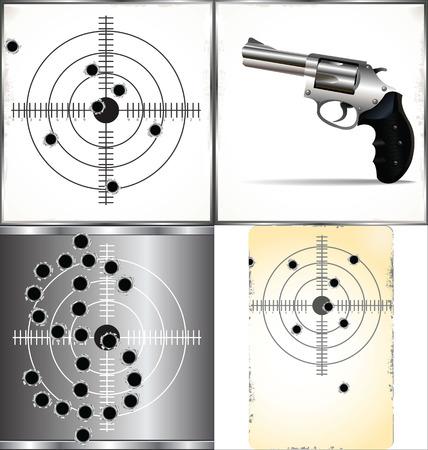 crack up: bullet holes