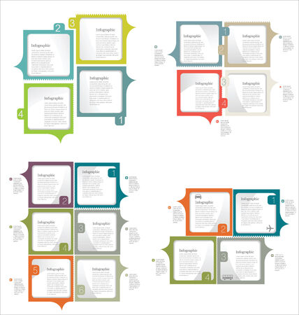 Infographic design template collection Vector