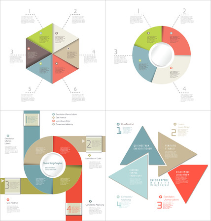population growth: Infographic design template collection