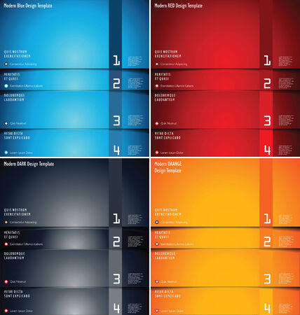 Modern design background collection Vector