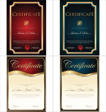 certificate frame: Certificate template, set Illustration