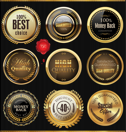 Premium quality badges and labels Illustration