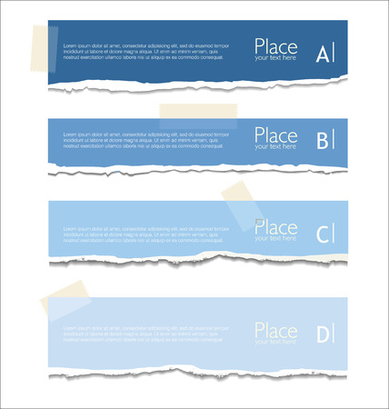 torn paper edges: Torn paper background with space for text