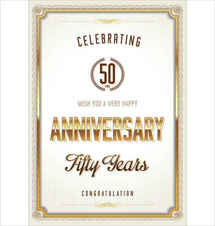 Anniversary certificate template Vector