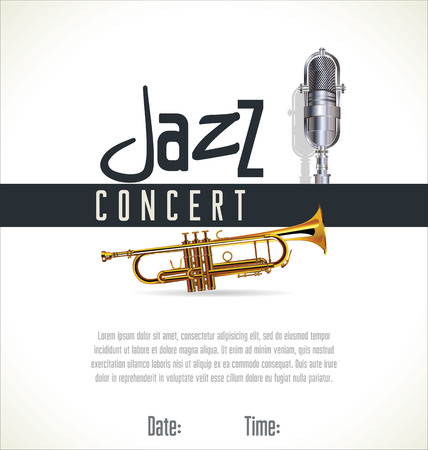 Music jazz background Vector