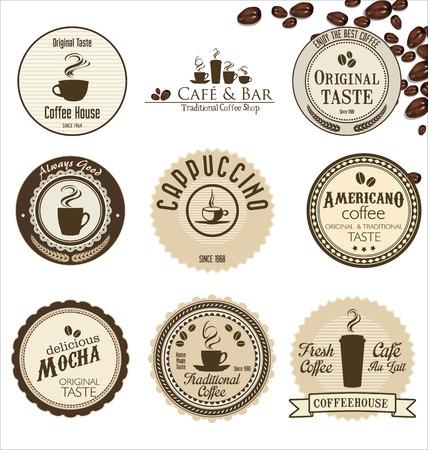 coffee retro badges collection Vector