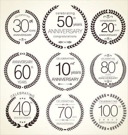 numero diez: Aniversario corona de laurel