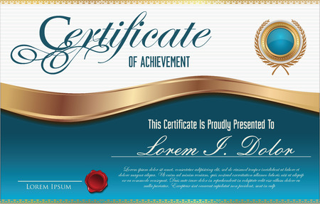 stock illustration: Certificate template