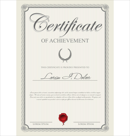 antik: Zertifikatvorlage