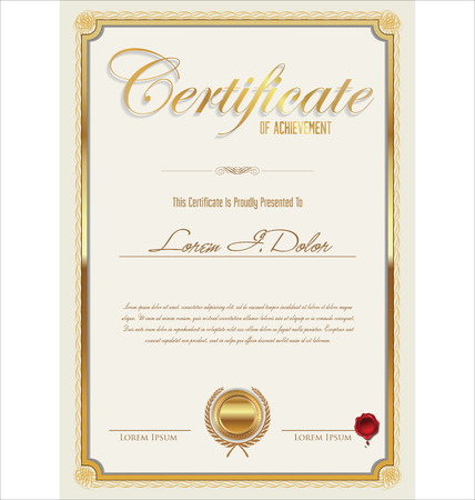 money border: Certificate template