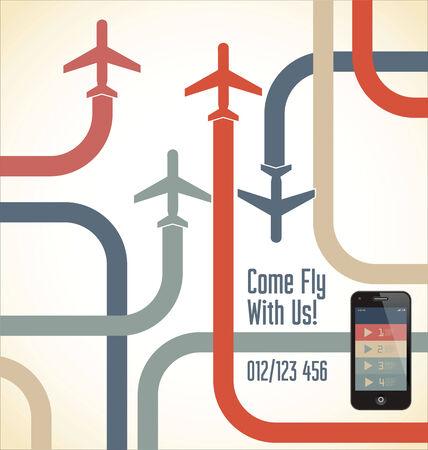 airplane travel: Travel flat design