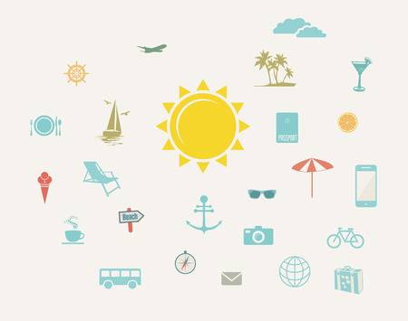 Travel modern flat design Vector