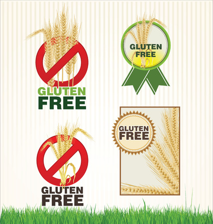 Gluten free label collection Vector