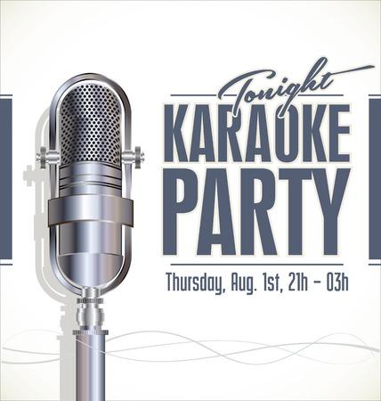 Karaoke party poster Vector