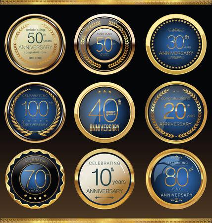 congratulations banner: Anniversary labels