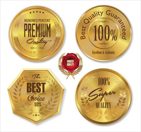 gold button: Golden metal badges