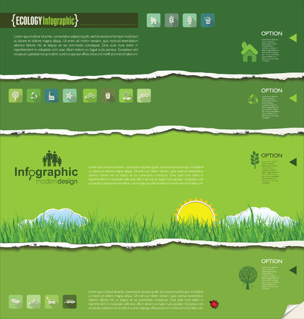 Ecology modern design Vector