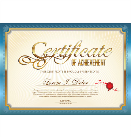 gift certificate: Certificate template Illustration