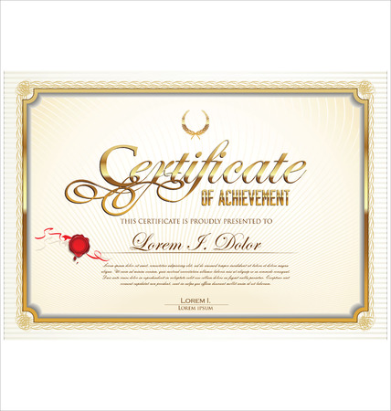 wax stamp: Certificate template Illustration