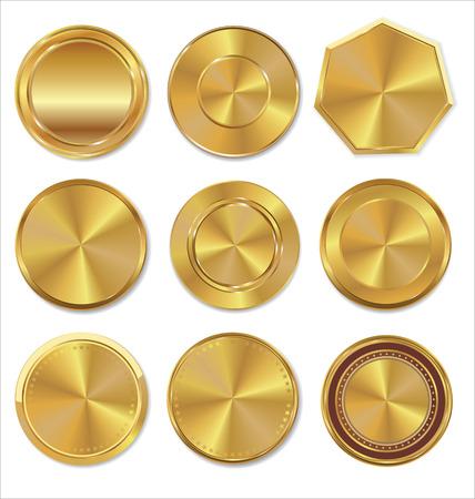 Zlaté štítky kolekce Ilustrace