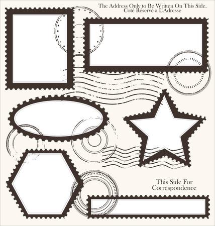 Post stamp set Vector