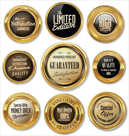 Collection d'étiquettes d'or Illustration