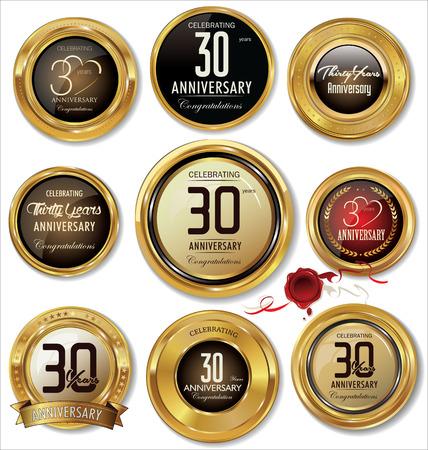 commemoration: Golden metal badges