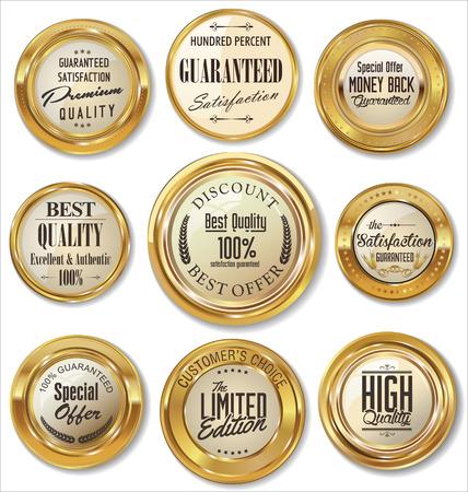 gold medal: Premium quality golden metal badges
