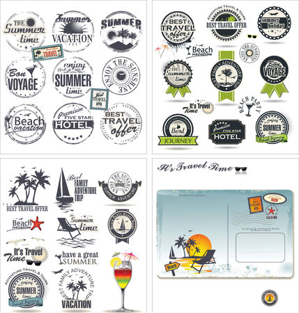 Travel design collection  Vector