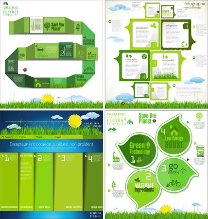 Ecology modern design collection Vector