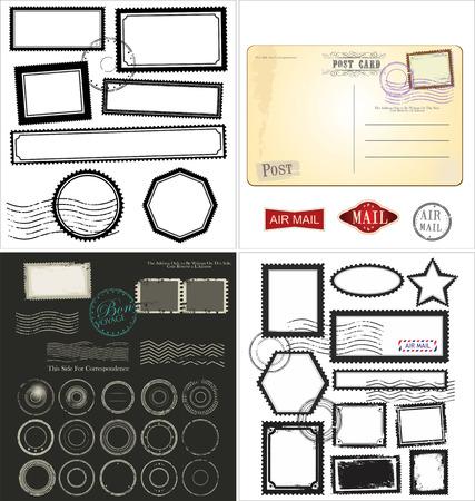 Set van bericht stempel symbolen, verzameling
