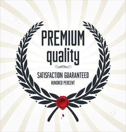 sticker design: High Quality Label Illustration