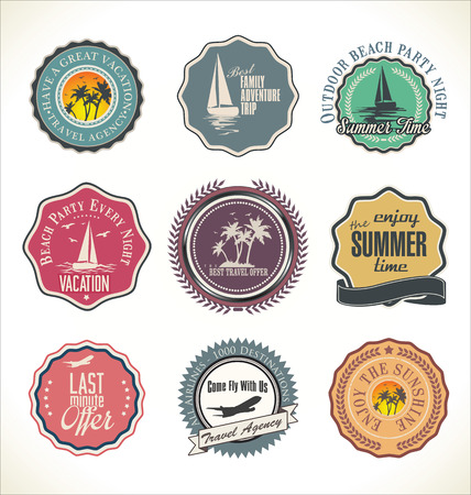 best travel destinations: Travel design retro labels, collection