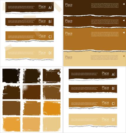 Zerrissenes Papier Hintergrund mit Platz für Text, Sammlung Standard-Bild - 30824636
