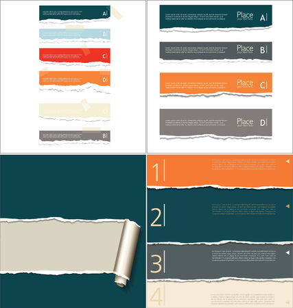 Torn paper collection Vector