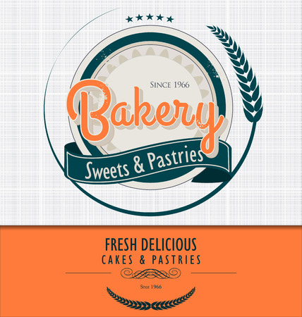 Vintage bakery background Vector