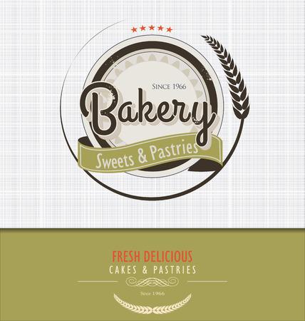 bakery sign: Vintage bakery background