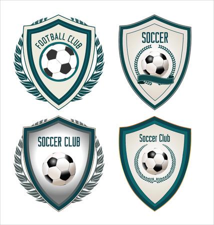 Set of soccer football emblem Vector