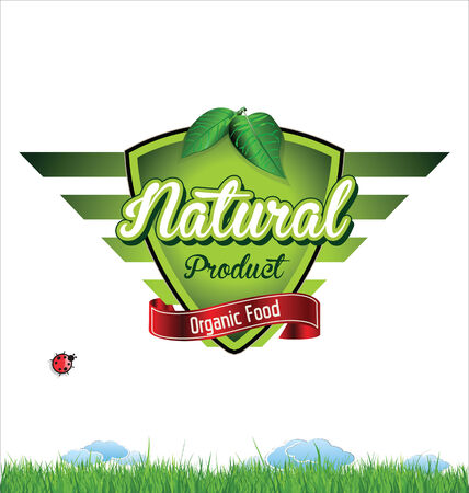 Label for natural organic product Illustration