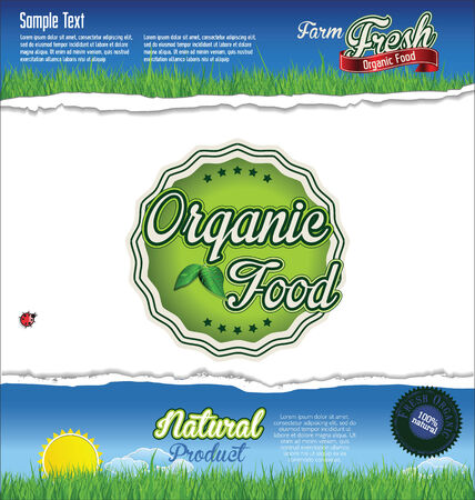inspected: Label for natural organic product Illustration