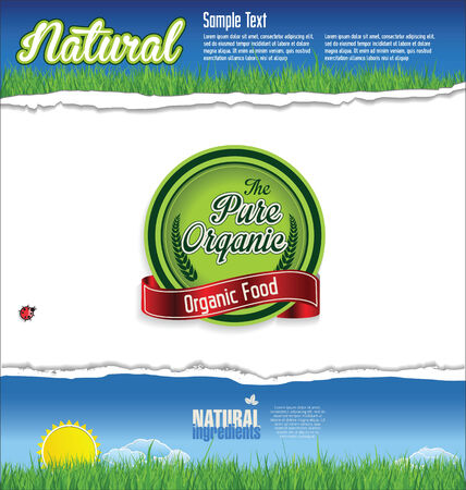 cereal box: Label for natural organic product Illustration