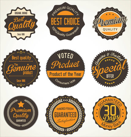Premium quality labels collection