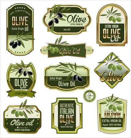 Olive labels set Vector