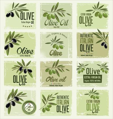 rama de olivo: Colecci�n de Oliva fondo retro