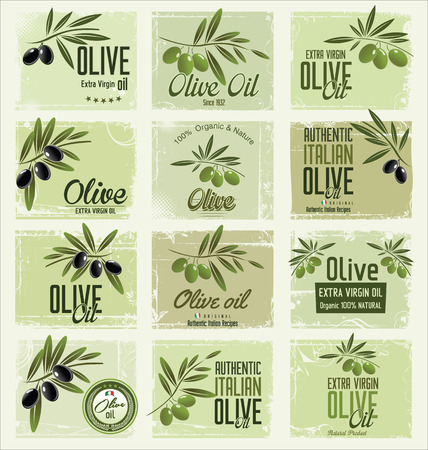 Olive retro background collection